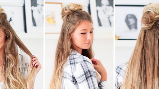yarım topuz saç, topuz saç modelleri, saçı topuz yapma